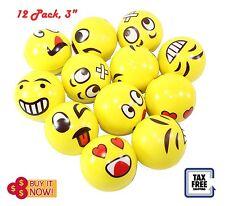 12Pc Emoji Stress Balls Squishy Toy Stress Relief Balls Emoji Party Favors Gift