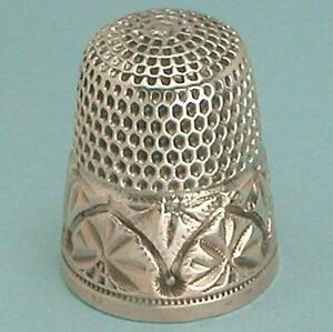 Antique Gold Band Sterling Silver Thimble by Simons Bros.* Circa 1890s
