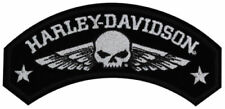 Harley Davidson Military Wings Emblem Patch Medium Willie G Skull EM044753 New
