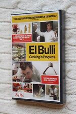 El Bulli: Cooking Progress (DVD), Region-1, New and sealed, free shipping