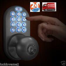 Keyless Door Lock Entry Electronic Security Password Keypad Combination Home New