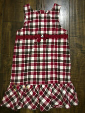 Gymboree Red Plaid Checker Girl's Toddler Kids 5T Dress 5