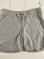 Patagonia Womens Organic Cotton Shorts Sz 6 Flat Pockets khaki Army Green Olive