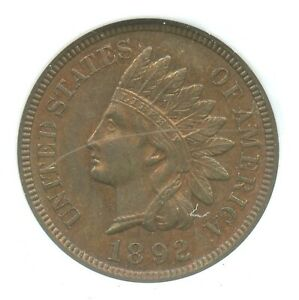 1892 Indian Head Cent, NGC MS65RB