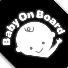 3M Reflective Baby On Board Car Sticker Decal 01493 12x12CM
