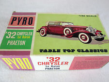 Vintage 1966 Pyro 1/32, '32 Chrysler LeBaron Phaeton plastic model kit C413-125