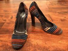 Marc Jacobs Velvet Striped Heels, Size 8