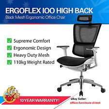 ErgoFlex IOO Mesh Chair Office Computer Desk Study Home Ergonomic Head Rest Seat