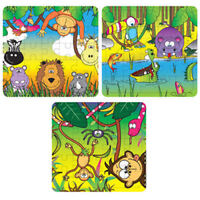 6 Jungle Jigsaw Puzzles - Pinata Toy Loot/Party Bag Fillers Wedding/Kids