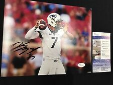 KENNY HILL TCU HORNED FRONGS SIGNED 8X10 PHOTO JSA COA SD29796 FREE S&H!