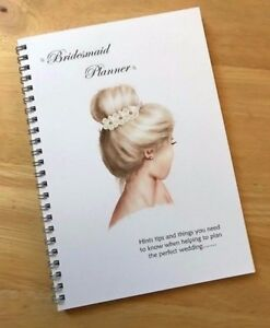 A5 Bridesmaids Wedding Planner Note Book - Essential for every Bridesmaid to be!