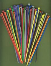 """100 8"""" Inch Long 40# Pound Nylon Cable Ties 10 COLORS Zip Tie Ty Wrap MADE USA"""