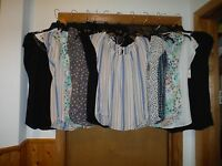 Women's Short Sleeve pleated Blouses LC Lauren Conrad All Reg,Sizes Multi Color
