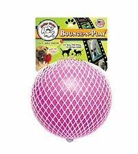 Jolly Pet Bounce-N-Play Ball Pink 4.5 inch   Bubblegum Scented Rubber Dog Toy