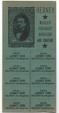 Rare Unused Tickets for Heaney Worlds Foremost Magician