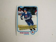 1981-82 Topps Hockey #39 Peter Stastny  RC  Nordiques  MINT