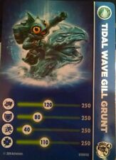 Tidal Wave Gill Grunt Skylanders Trap Team Core Figure Stat Card Only!