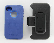 OtterBox Defender iPhone 4 iPhone 4S Rugged Case w Holster Belt Clip Blue USED