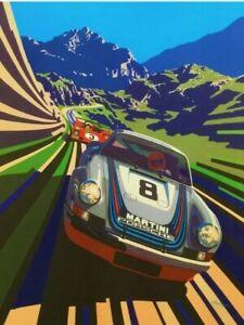 Porsche 911 Poster 13x19 Art Print Vintage Racing Retro High Quality B2G1 Free