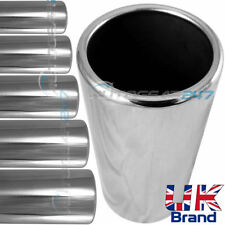 Car Van Chrome Straight Exhaust Tail Pipe Outlet Trim Cover Sleeve. Moulded Edge