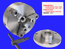 """6"""" 3-jaw Reversible jaw Chuck with 1-1/2 x 8 Adapter"""