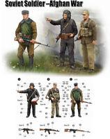 Trumpeter 9360433 Sowjetische Soldaten in Afganistan 1:35 Figuren Modellbausatz