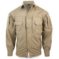 Bulldog Rogue Men's Military Army Hiking Tactical Bush Field Shirt Jacket Coyote