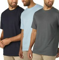 Kirkland Signature Men's %100 Cotton Classic Tee Shirt Blue Black Gray NWT