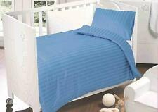 Love2sleep 250 TC Cotton Satin Cot Bed Duvet Cover Set - Blue