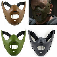Halloween Silence of the Lambs Hannibal Lecter Mask party Costume Props Replica