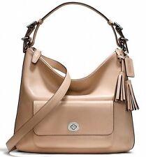 "Coach Legacy Courtenay Leather Hobo Bag Purse in Light Khaki ""nude"" Hobo NWT"