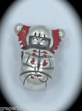 AUTHENTIC CHAMILIA STERLING SILVER RED ENAMEL GIRL DOLL BEAD CHARM