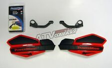 POWERMADD HANDGUARDS HAND GUARDS RED BLACK HAND GUARD MOUNTS YFZ450 RAPTOR BANS