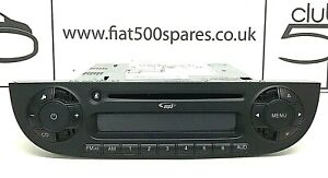 Fiat 500 Black Stereo / CD Player / Radio 2008 - 2015 comes with security code