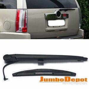 Black Rear Window Wiper Arm + Blade Set Fit for 2007-2013 GMC Yukon XL 1500 2500