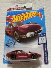 Hot Wheels JDM 1968 Toyota 2000 GT. Rare,HTF! '20 Tokyo Olympic Games Srs #8/10.