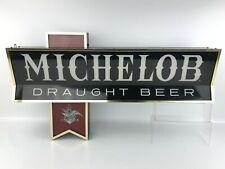 """Vintage Michelob Draught Beer Light Up Sign Anheuser Busch Large: 32"""" - Works!"""