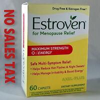 Estroven, Menopause Relief + Energy, Maximum Strength, 1 Per Day, 60 Capsules