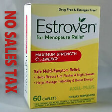 Estroven, Menopause Relief + Energy, Maximum Strength, 1 Per Day, 60 Capsules