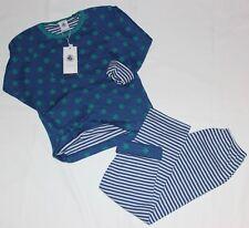 Petit Bateau Schlafanzug Sterne / Ringel blau-grün-weiß NEU Gr. 116