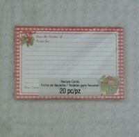 Studio 18 RECIPE CARDS 20 Cards From the Kitchen Apples Basket Red White Plaid