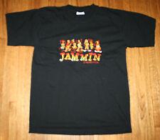 We Be Jammin Jamaica Embroidered T-Shirt Black Medium Pre-Shrunk Cotton