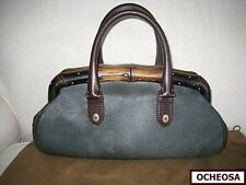 Authentic GUCCI Black Pony Hair Bamboo Wood Framed Satchel Bag! Signature Style!