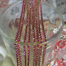 SS8 (2.5mm) Crystal Rhinestone Close Chain Trim Sewing Craft DIY Crystal Chain A