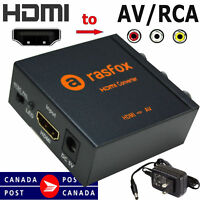 Rasfox HDMI to CVBS RCA AV Video Composite Converter Adapter Box 720p 1080p