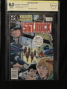 🔥SGT. ROCK #391 CBCS SS 8.0 SIGNED JOE KUBERT (R.I.P.) EXTREMELY RARE SIGNATURE