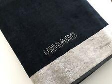 Emanuel Ungaro Paris Luxury Bath Beach Towel Velour 100% Cotton Black Silver