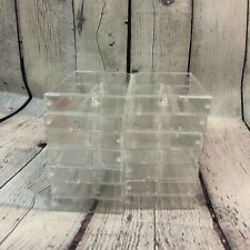 Lot of 14 Clear Cassette Tape Hinged Cases Pre-Owned