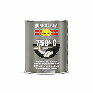 Rustoleum Heat Resistant Black, BBQ / Fire Pit Paint 750°c Satin-Matt 750ML