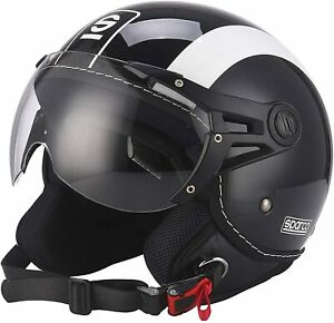 Sparco Jethelm Helm SP501 Riders schwarz/weiß Gr. S , NEU
